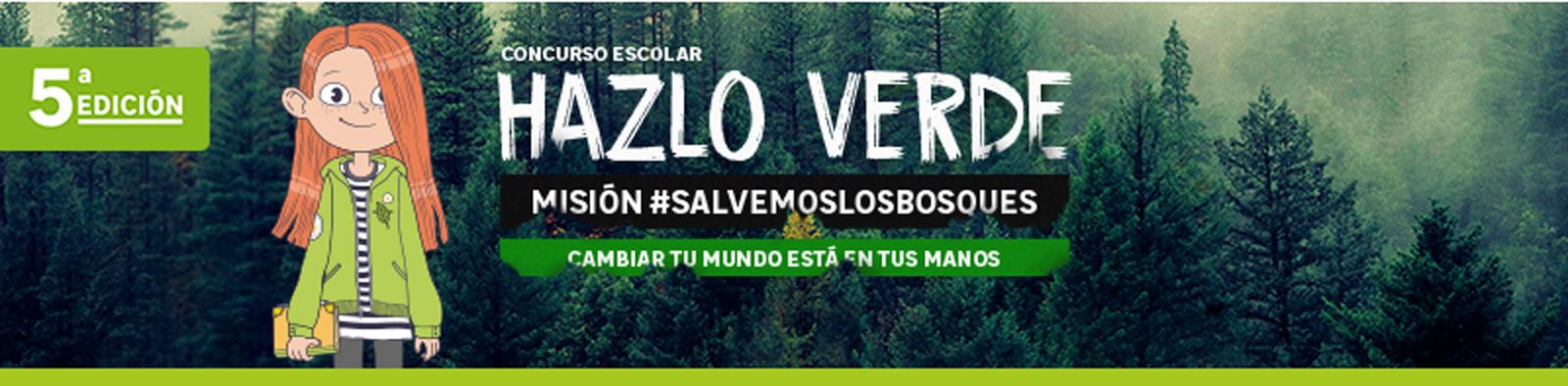5ª edición del Programa de Sensibilización Educativa Hazlo Verde: Misión #Salvamoslosbosques.